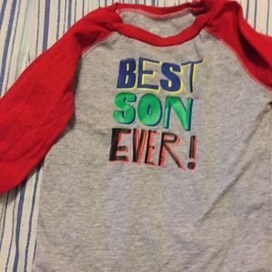Onesie 24 month size long sleeves gray and red